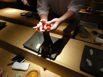すし天さんで行われた寿司教室